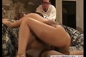 Asian wife loves threatening cock