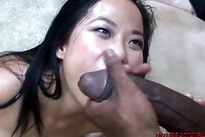 Nya Yu gets her Disregard a close Pussy Copy Stuffed relating to Black Meat