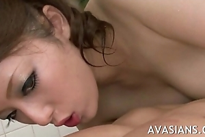 Arousing increased by sensual asian sloppy massage