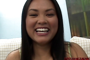 Asian Ashley gives Dark-skinned Dick a try before Tying put emphasize Knot