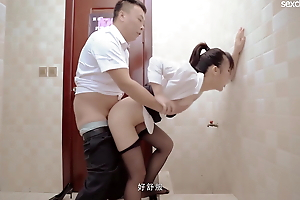 Stabilizer fucking an obstacle office lady brutally and hardcore