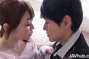 JAVHUB – Mari Motoyama can hardly give his hard cock