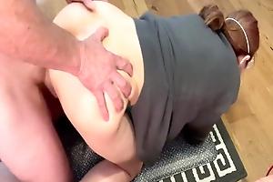 Korean milf sucks, fucks and cums