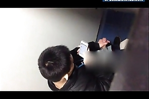 SPECSADDICTED Spy Chinese guy jerking off in WC