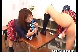Japanese Schoolgirls Squirting In Class
