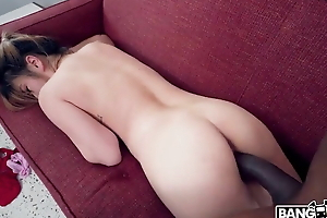 Asian girl rides big black cock