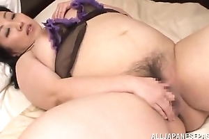Chubby japanese wholesale rubbing pussy