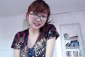 Asian teen talks fast!
