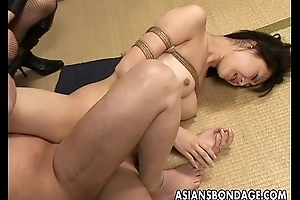 Likely up Asian hottie gets creampied hard