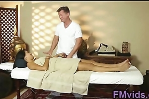Asian babe rub down and fuck