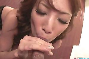 Dispirited and funky catholic Aya dominates duo cocks