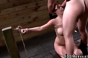 Take charge Asian pamper throat and pussy fucked alongside bdsm
