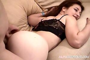 Nice Asian brunette loves anal