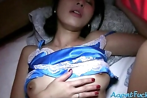 Petite amateur Asian handsomeness Marcia sucks and pounded be advisable for money
