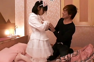 Japanese schoolgirl wants nearby let this man bonk her niggardly pussy