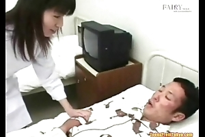 An Asian guy close by a hospital purfle is secretly jerking o from http://alljapanese.net