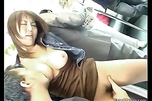 A young asian girl is at bottom a train soon three guys start detach from http://alljapanese.net