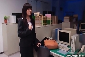 Horny Japanese office girl gets fucked