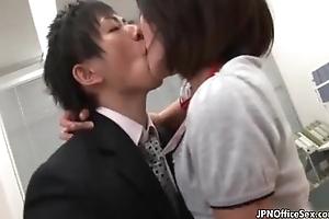 Miserly Japanese girl loves having sex
