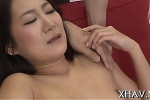 Asian hottie cookie gets stretched
