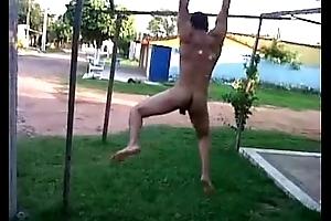 Handsome Naked Outside