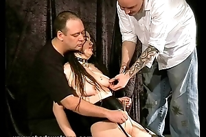 Asian Shrew Sexually Tormented and in bizarre pussy workovers and nipple punishm