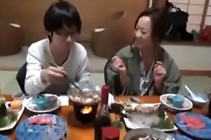 Japanese Mom shows nerdy Son anyway surrounding Fuck