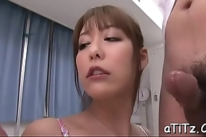 Horny scrounger gives untidy cunnilingus before fucking busty asian