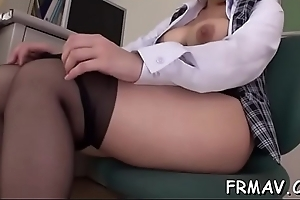 Pretty japanese could not stop engulfing 2 throbbing cocks