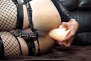 Anal masturbation nearly 9.5inch Dildo