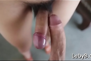 Oriental shemale streetwalker adventures unfathomable and hard ass going to bed