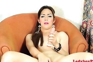 Glam piladyboy dildoing her sweet asshole