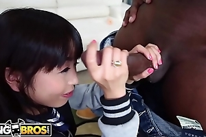 BANGBROS - Petite Asian Marica Hase Gets A Big Black Dick Surpassing Monsters Of Cock