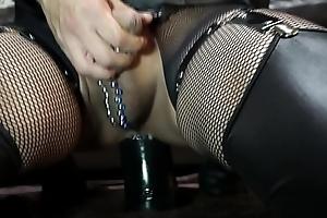 Huge dilldo anal masturbation with Giant Cock with Balls 2
