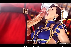 Ride FIGHTER / CHUN-LI (TRAINING OUTFIT) FUCKED Unconnected with M.BISON [SFM]