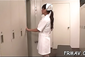 Slender japanese coddle magnetizes with wicked blowjob
