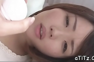 Asian chick with lovely marangos toys and plays with will not hear of hairy twat