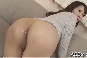 Pretty asian charms with blowjob up front to rough anal bonk