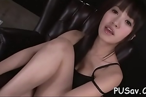 Perky tits X-rated asian strip tease