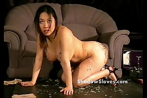 Bdsm reality show of asian underling Tigerr Benson attracting punishments and hot waxin