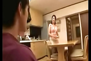 Japanese stepmom swill out in the matter of stepson