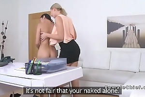 Asian whittle and female agent fingering