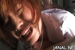 Japanese anal screwed in group