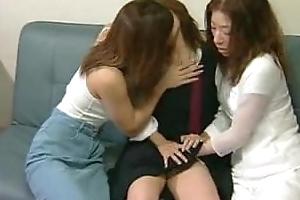 The Subdue 3 Japanese Girls Tongue Kissing Sex Scene