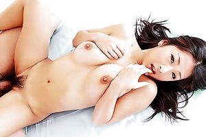 Horny Satomi wraps her chunky tits around a dull-witted barricade