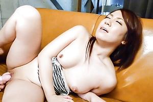 Cute Sakura Ooba enjoys the whisk lusty desires pleased