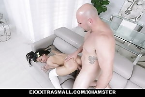 Asian Teen Bends Over and Gives Me Their way Grasping Pussy