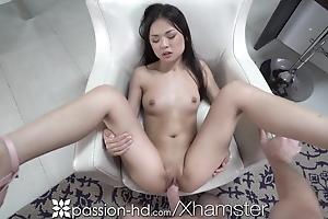 PASSION-HD Nerdy Asian Nympho Cums On Big Dick