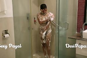 desi south indian doll young bhabhi Payal in bathroom