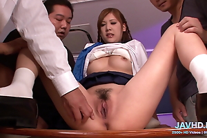 They are so cute, Japanese schoolgirls  V - More at javhd.net